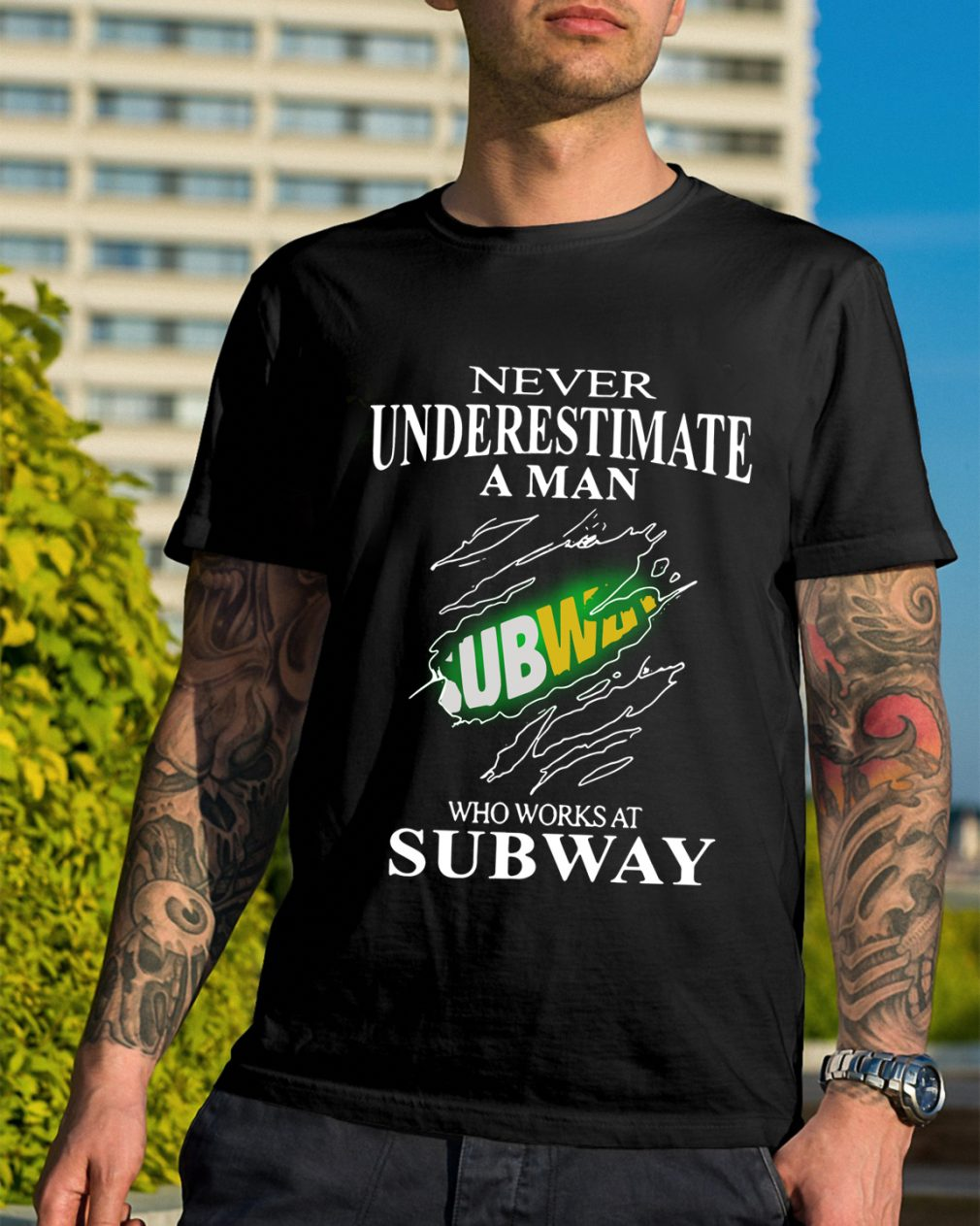 Never Underestimate A Man Subway Who Works At Subway Shirt