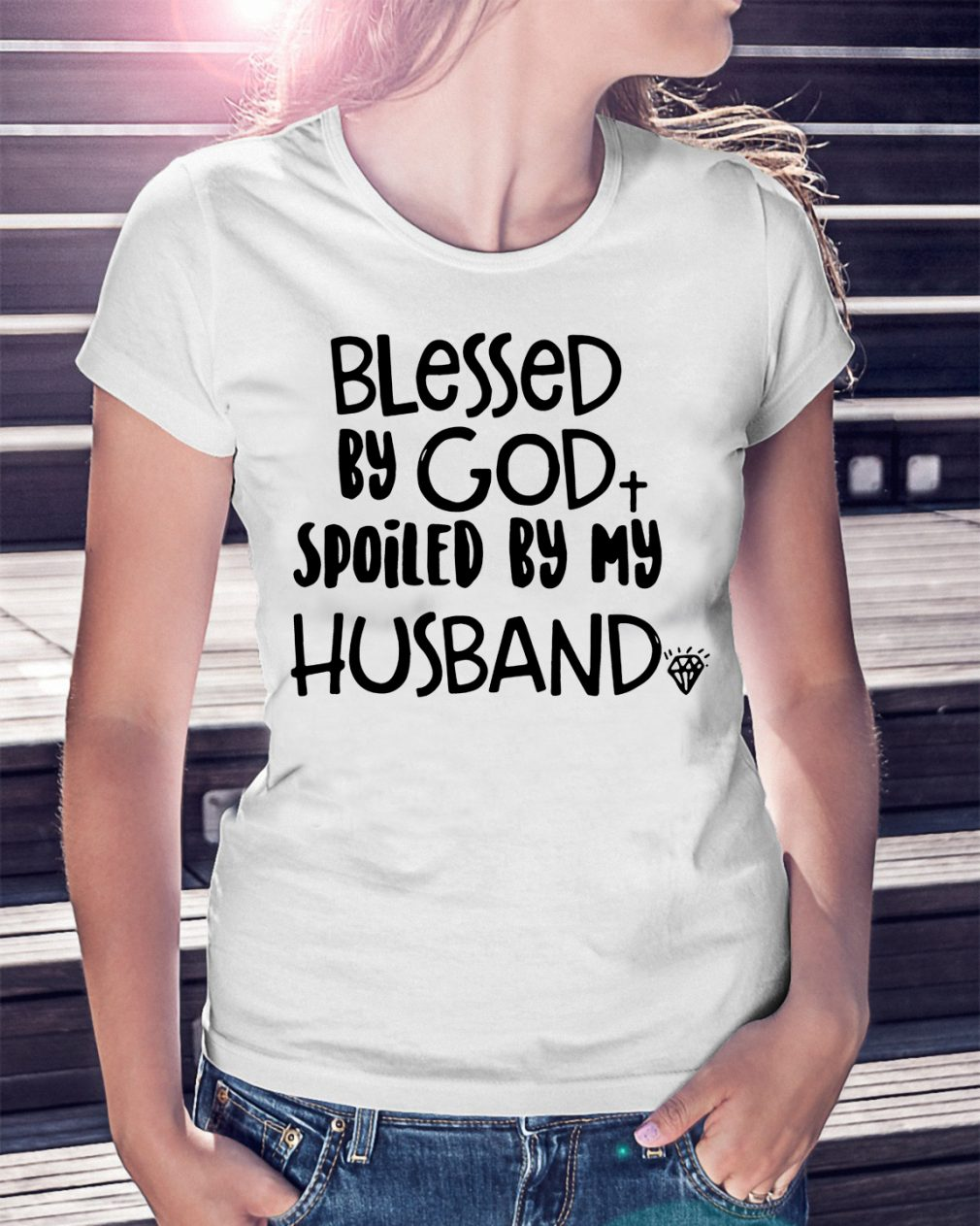 Official Blessed God Spoiled Husband Shirt
