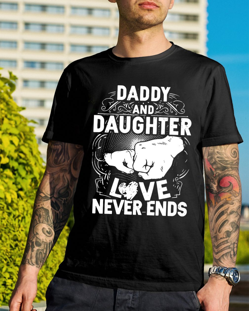 Official Daddy and daughter love never ends Shirt