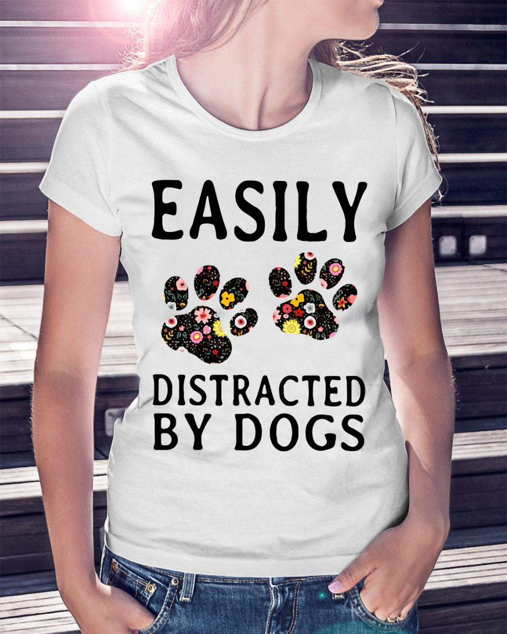 Official Easily Distracted By Dogs Shirt