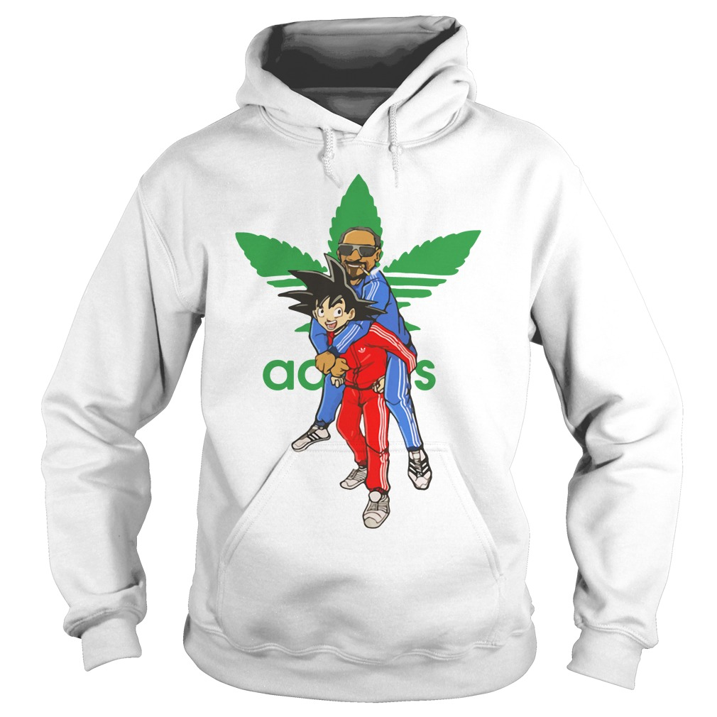 Official Goku And Snoop Dogg Adidas Weed Hoodie