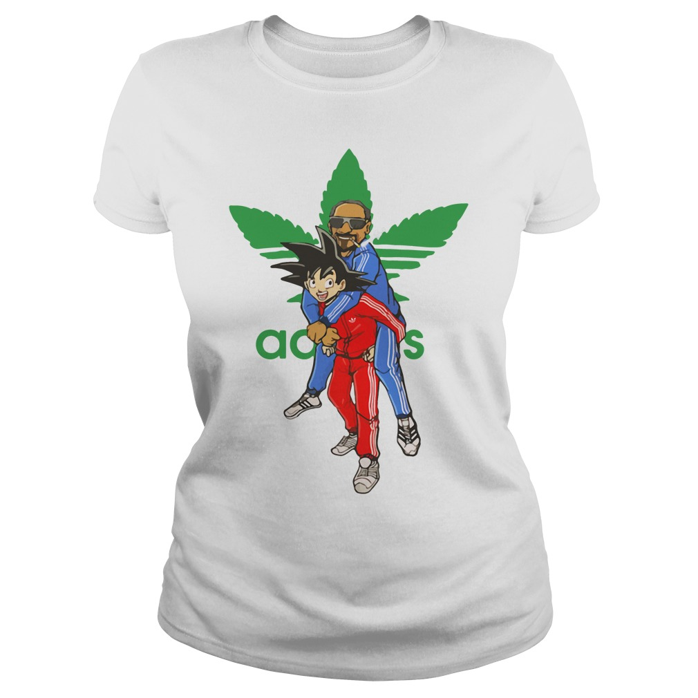 Official Goku And Snoop Dogg Adidas Weed Ladies Tee