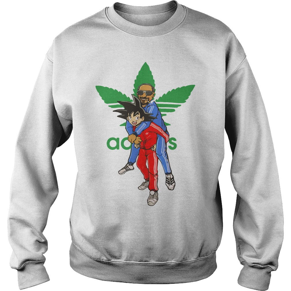Official Goku And Snoop Dogg Adidas Weed Sweater