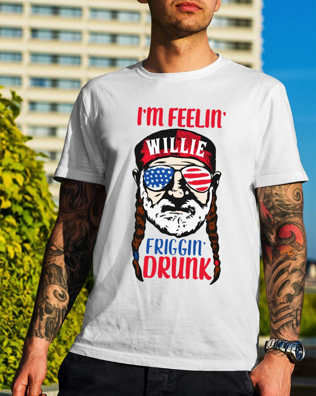 Official I'm feelin' Willie Friggin' drunk shirt