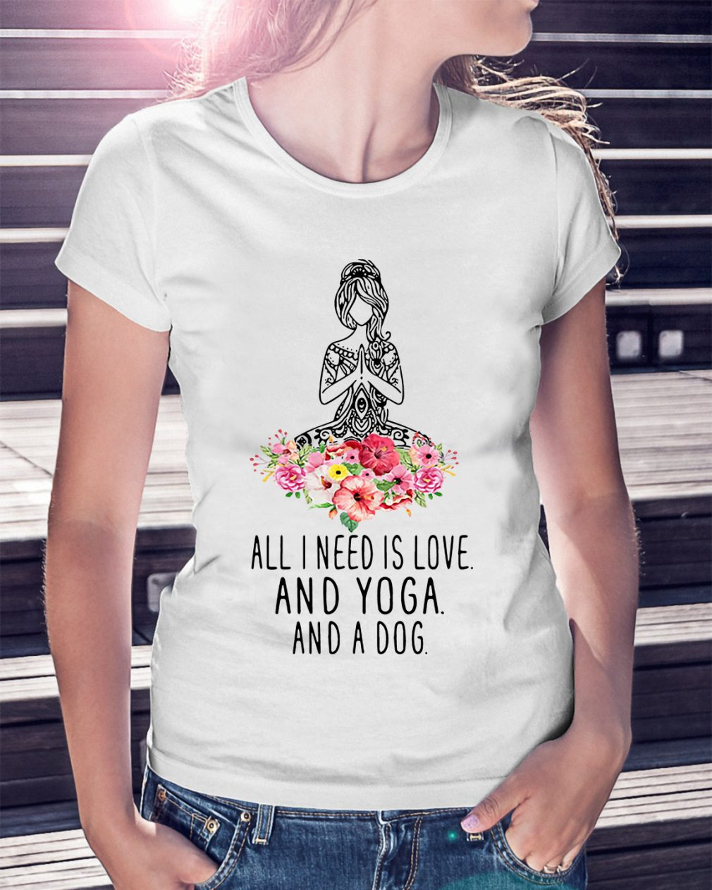 Official Need Love Yoga Dog Shirt