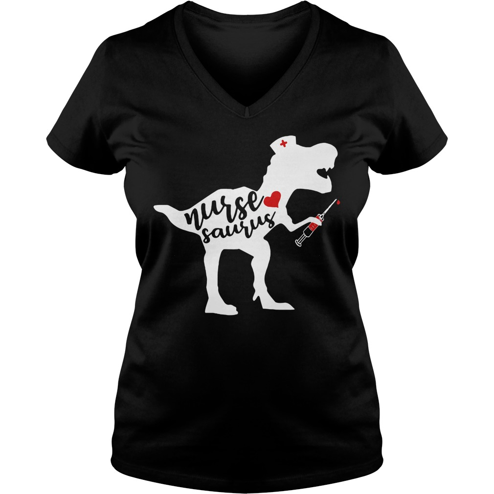 Official Nurse saurus V-neck T-shirt
