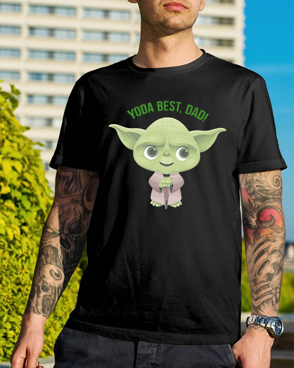 Official Star Wars Yoda best dad shirt