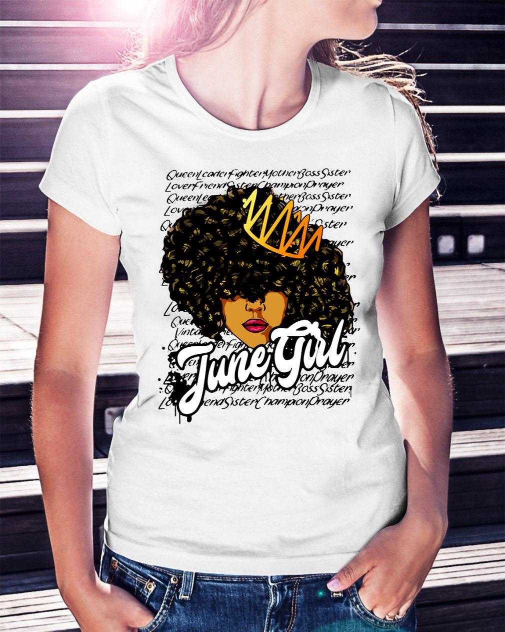 Queen leader fighter mother boss sister June girl shirt