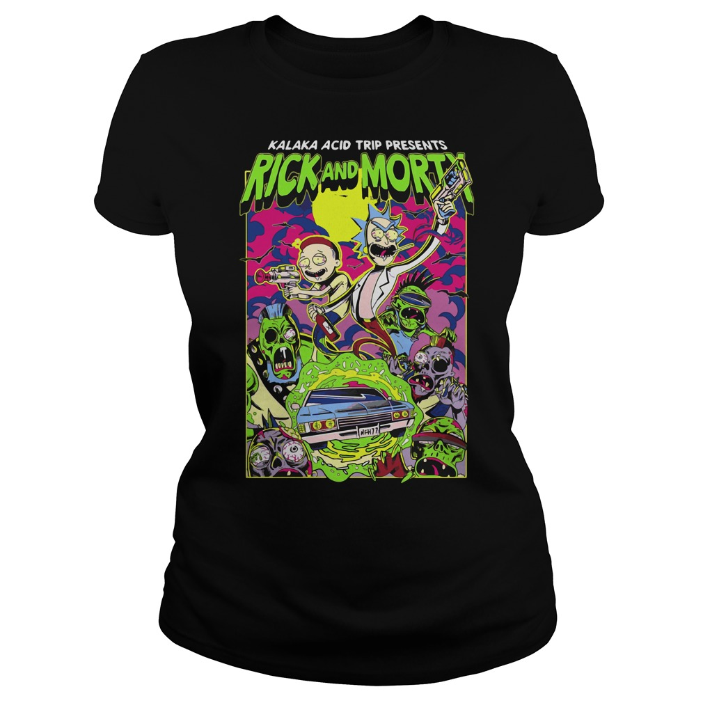 Rick Morty Kalaka Acid Trip Presents Ladies Tee