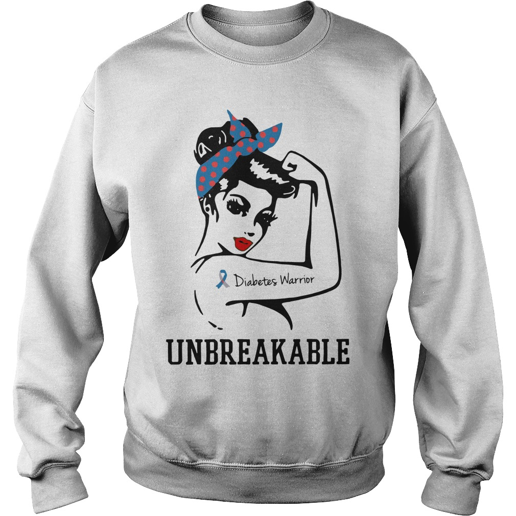 Rosie Pin Breast Cancer Diabetes Warrior Unbreakable Sweater