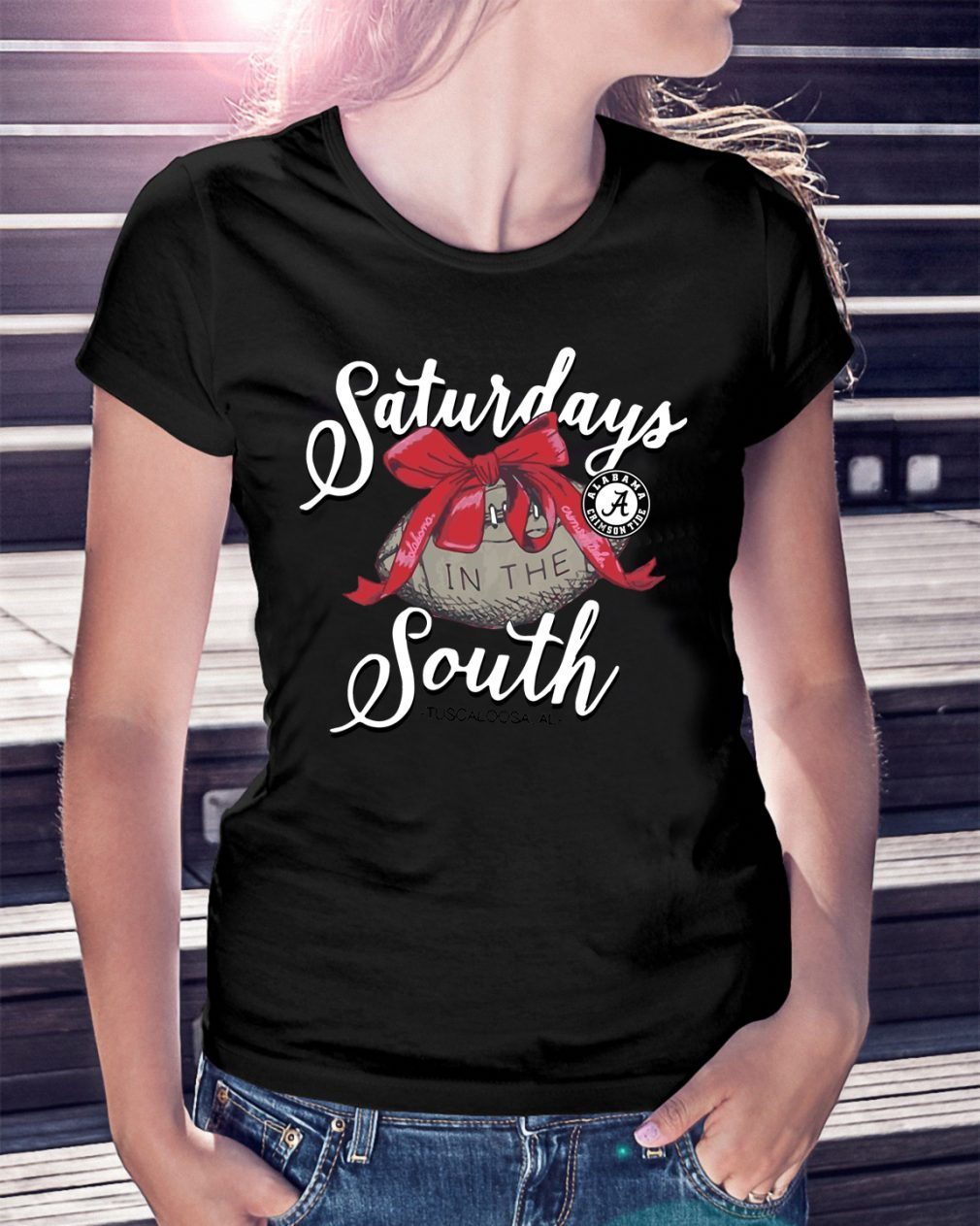Saturdays Alabama Crimson Tide Laces Bows South Shirt