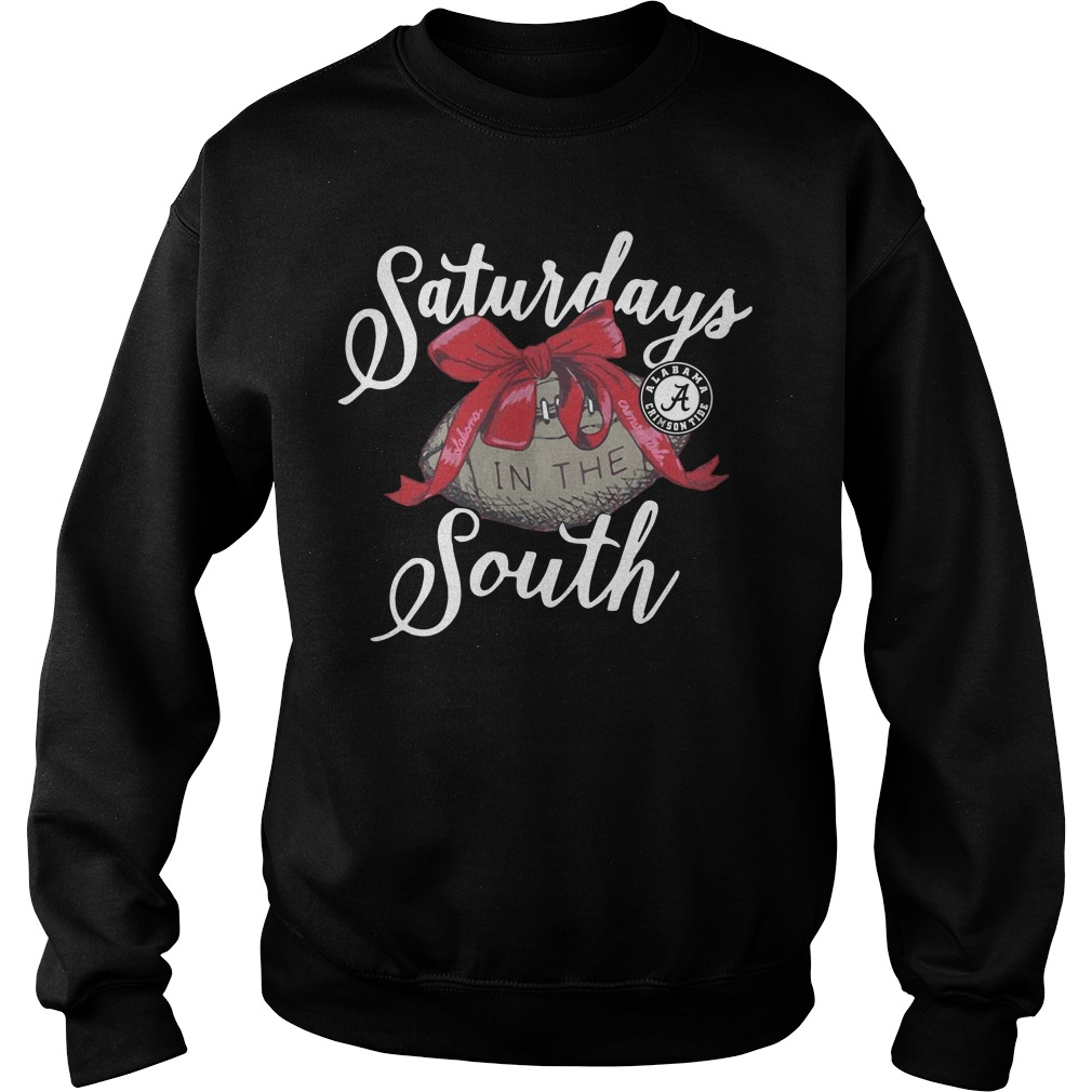 Saturdays Alabama Crimson Tide Laces Bows South Sweater