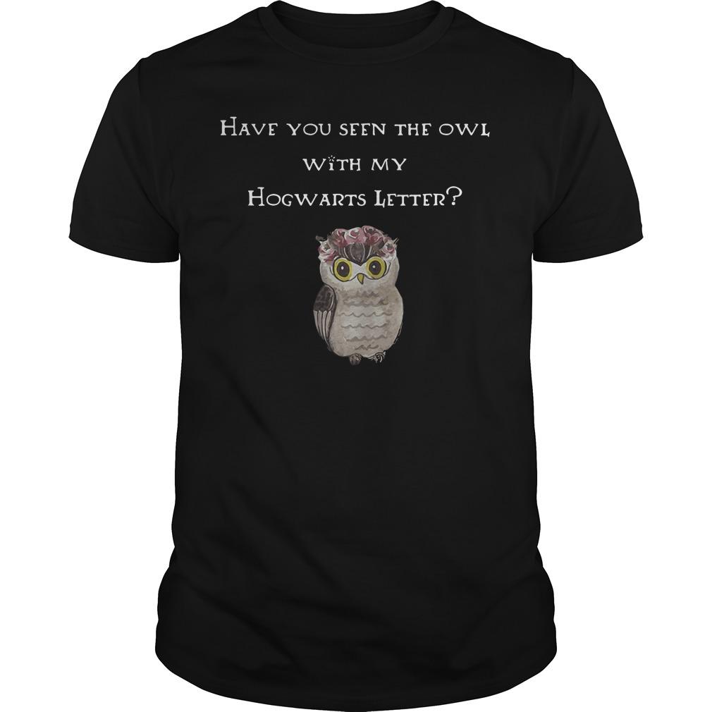 Seen Owl Hogwarts Letter Guys Shirt