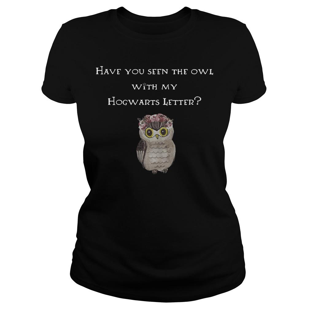 Seen Owl Hogwarts Letter Ladies Tee