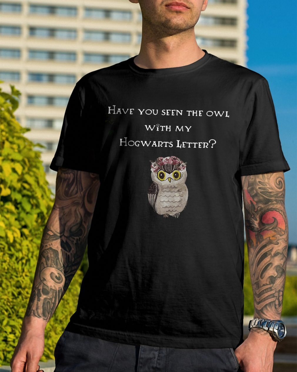 Seen Owl Hogwarts Letter Shirt