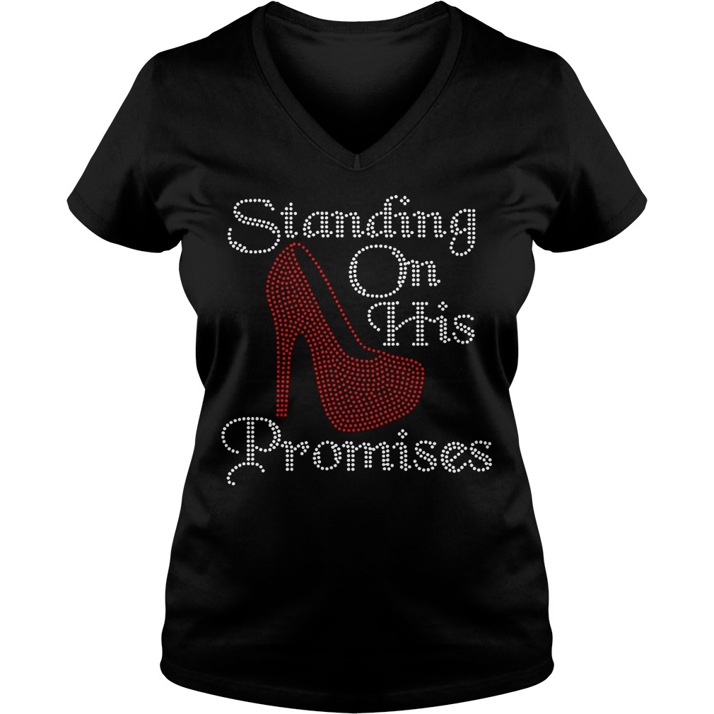 Standing on his promises V-neck T-shirt