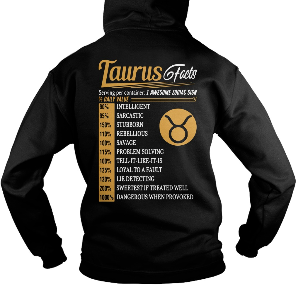 Taurus Facts Serving Per Container Hoodie