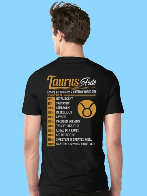 Taurus Facts Serving Per Container Shirt