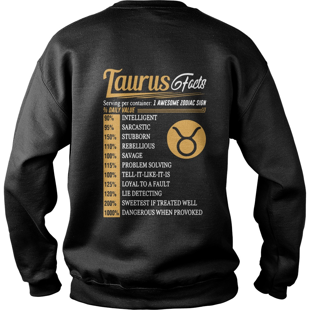 Taurus Facts Serving Per Container Sweater