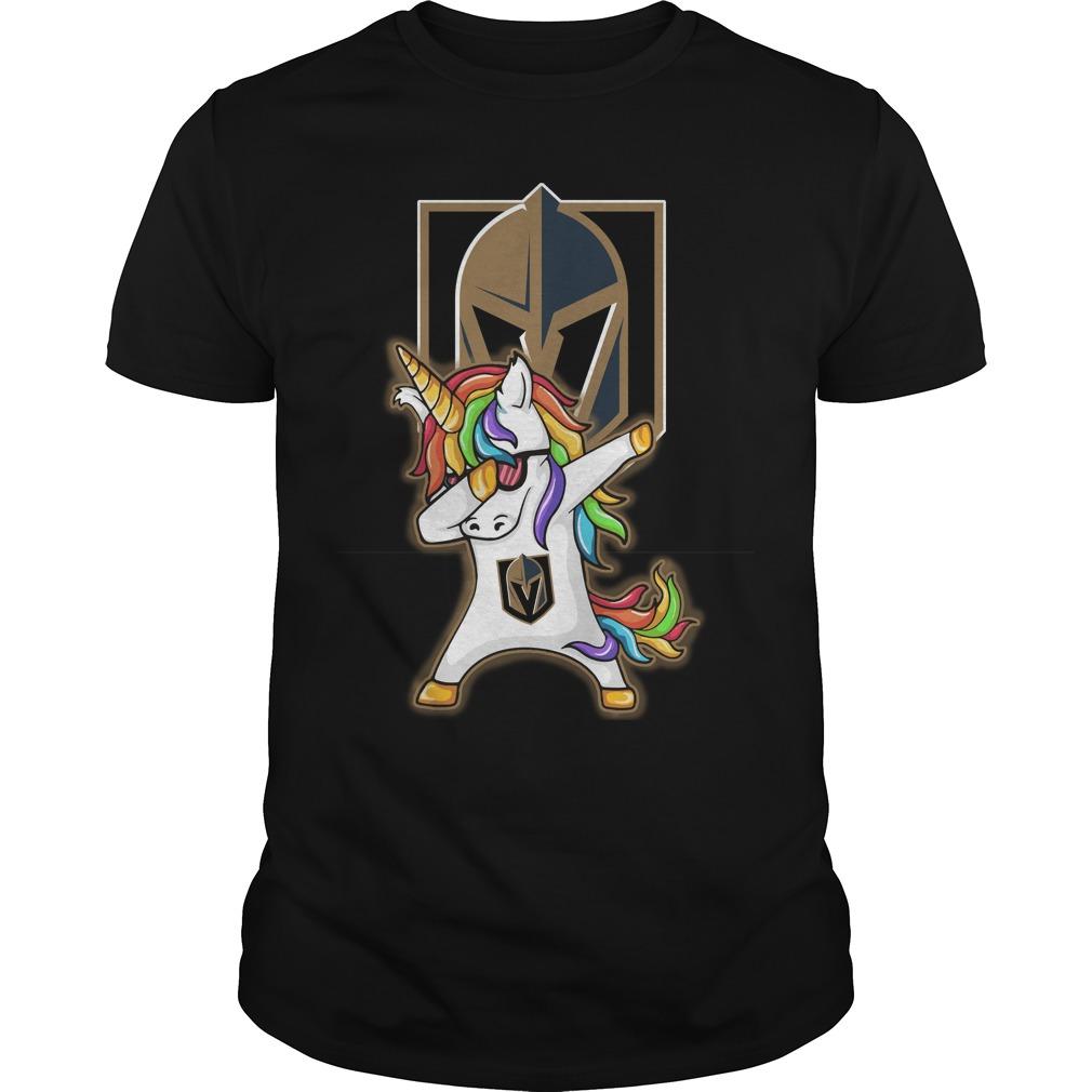 Unicorn dabbing Vegas Golden Knights Guys Shirt