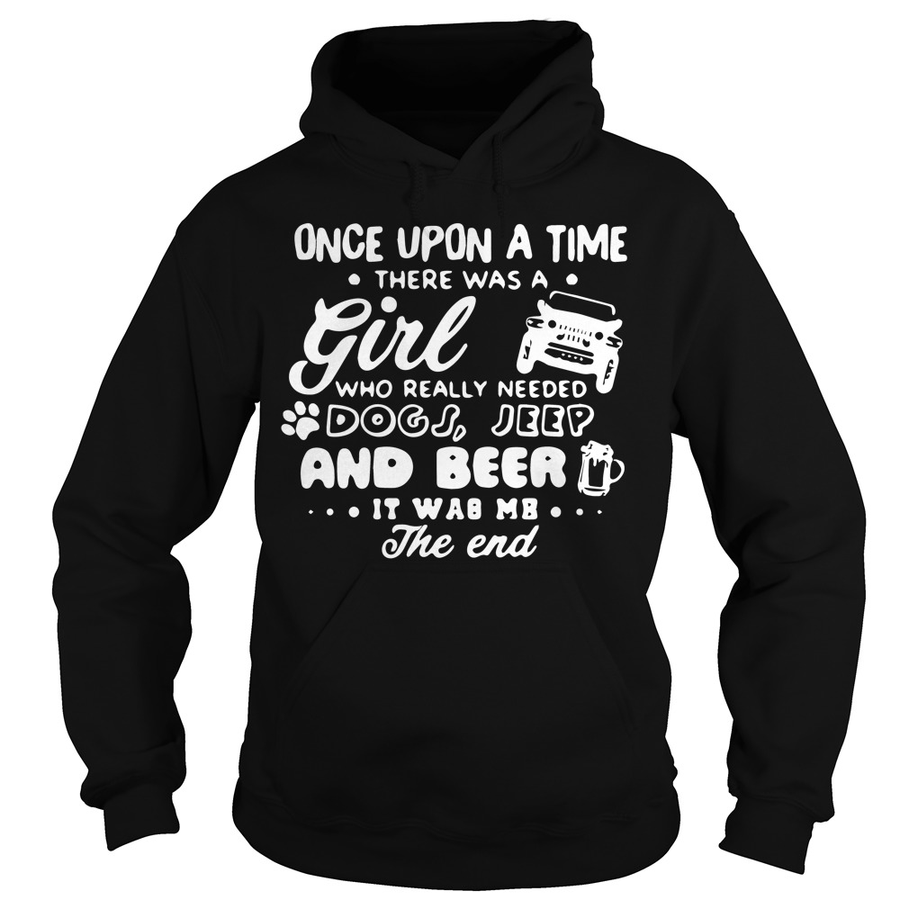 Upon Time Girl Really Needed Dogs Jeep Hoodie