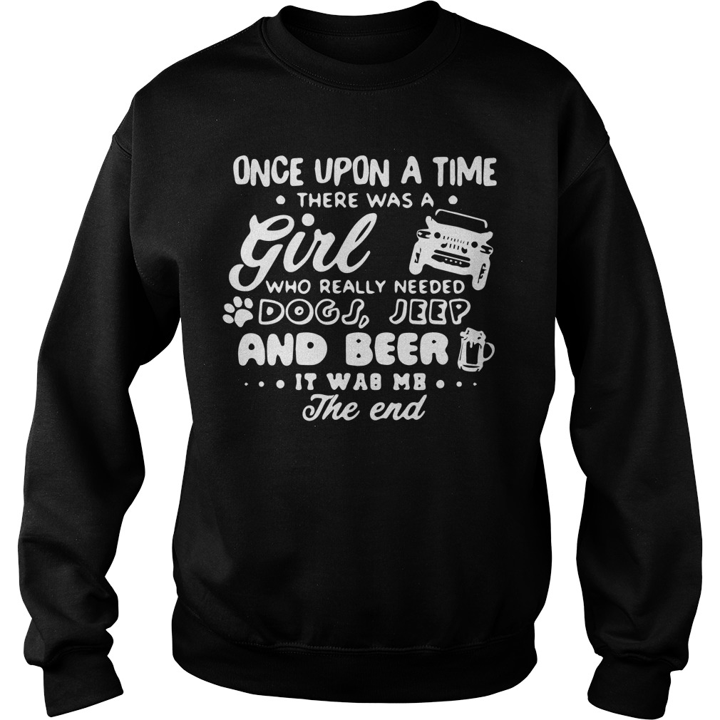 Upon Time Girl Really Needed Dogs Jeep Sweater