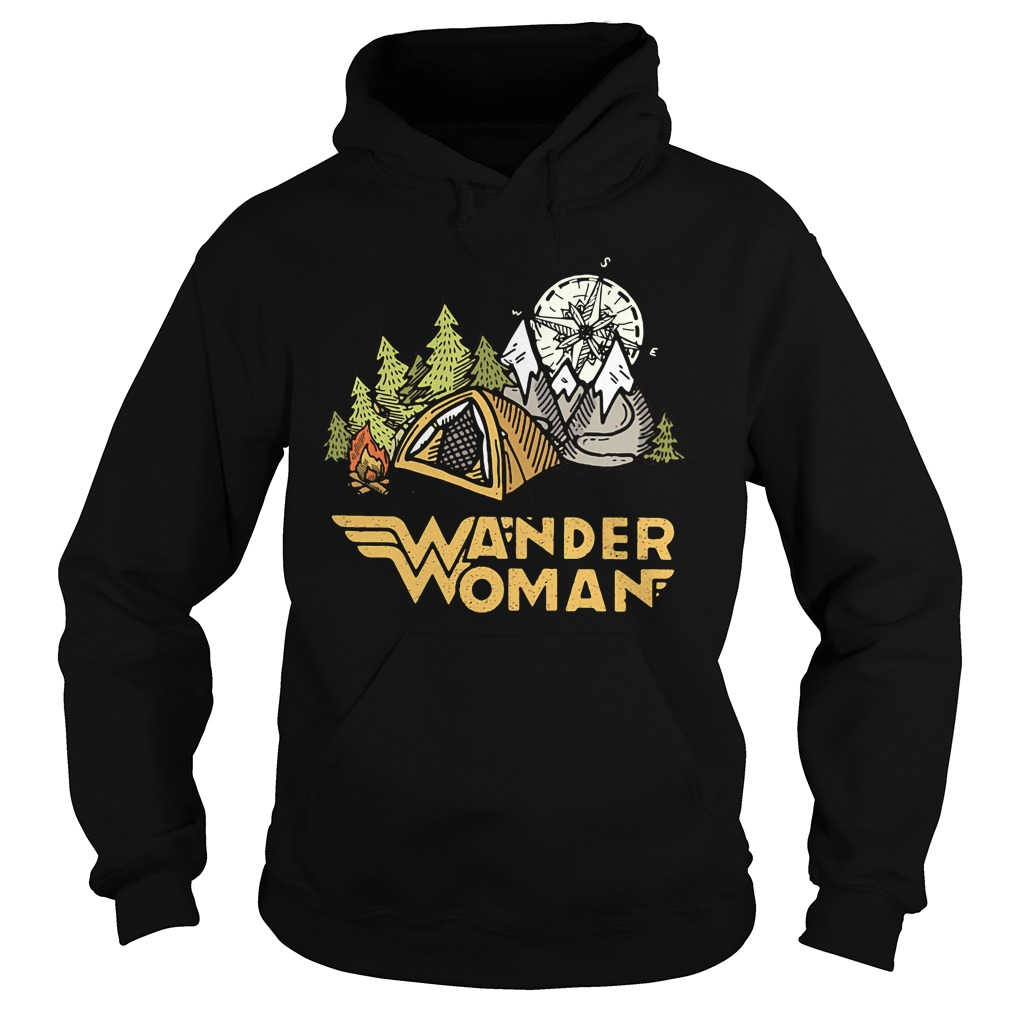 Wander woman camping compass Hoodie