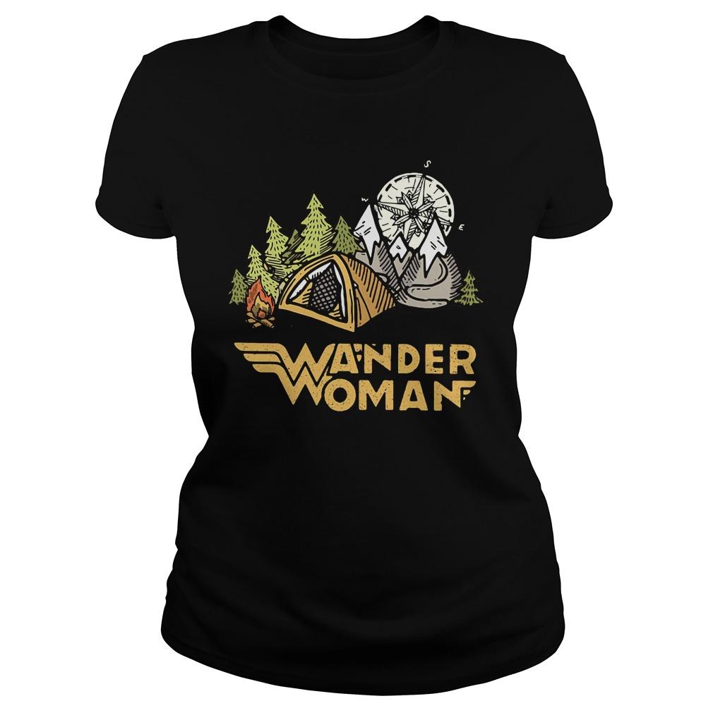Wander woman camping compass Ladies Tee