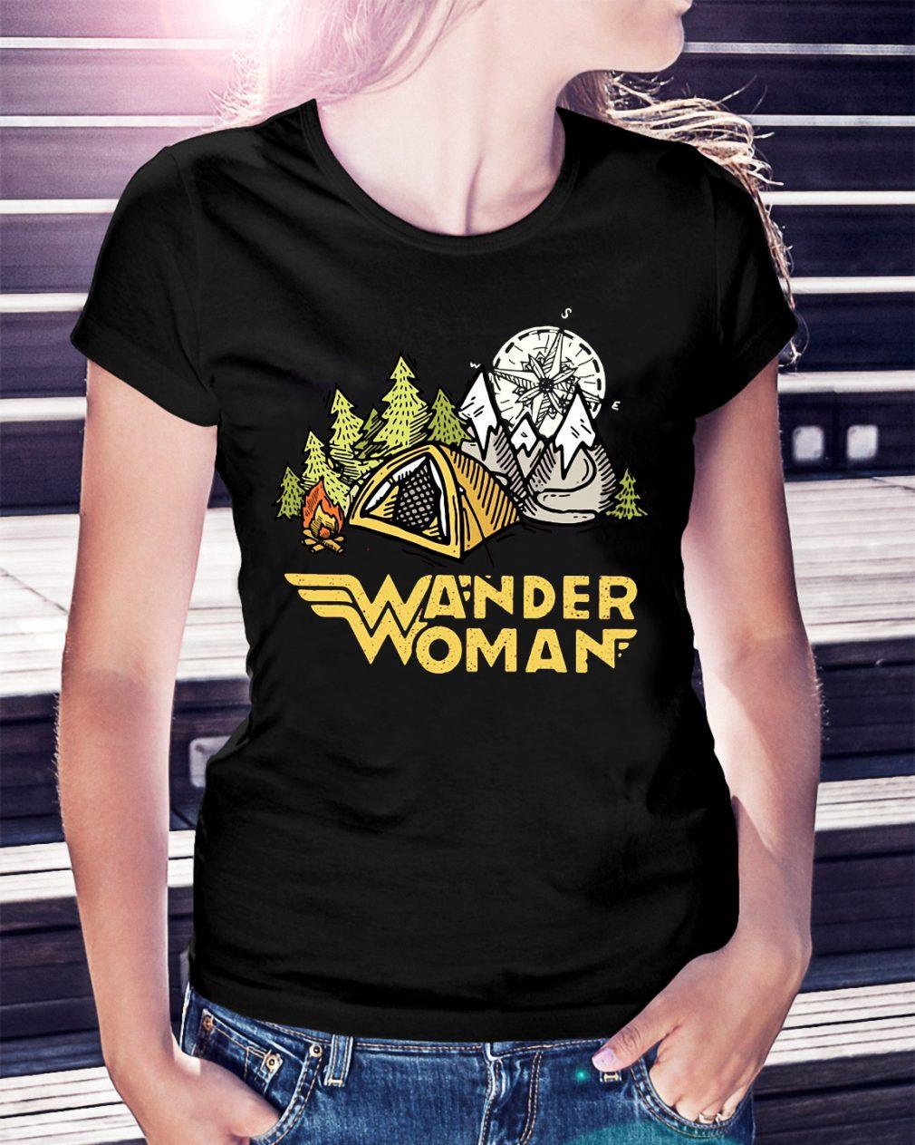 Wander woman camping compass shirt