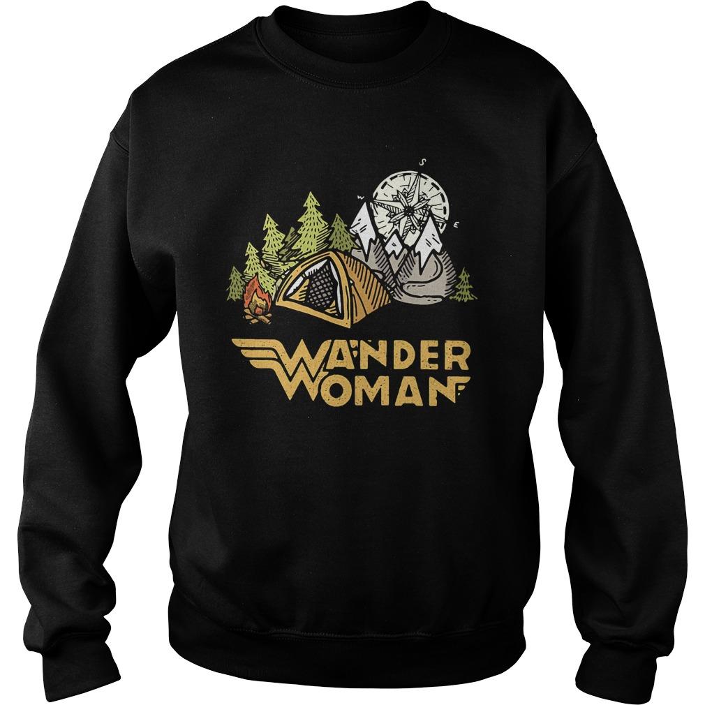 Wander woman camping compass Sweater