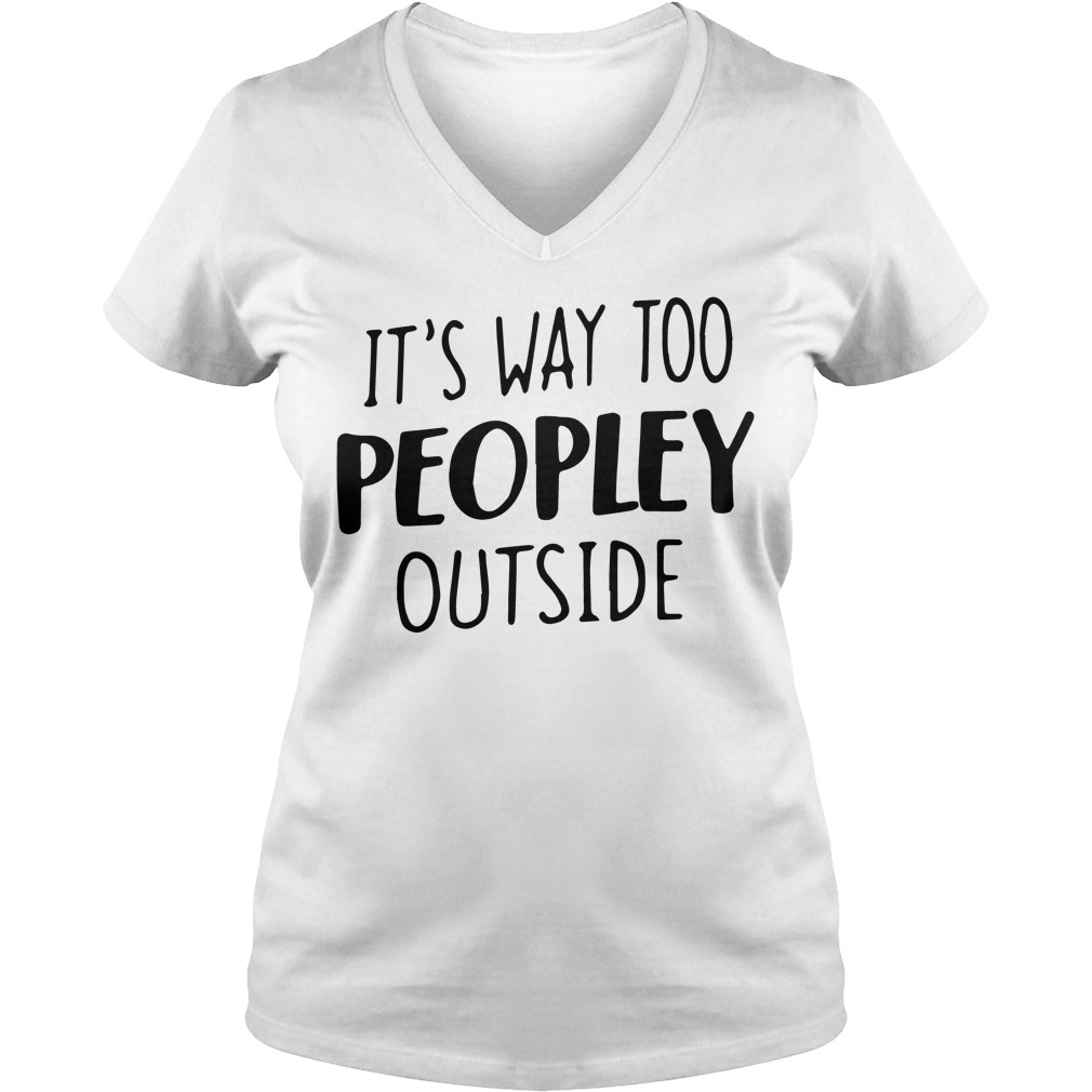 Way Peopley Outside V Neck T Shirt