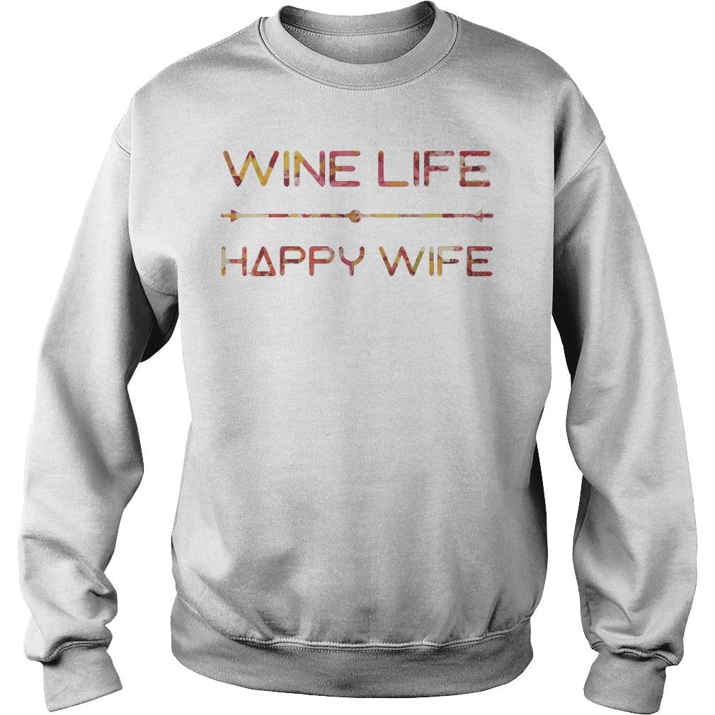 Wine Life Happy Wife Sweater
