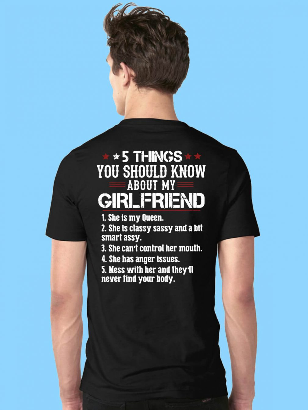 5 things you should know about my girlfriend shirt