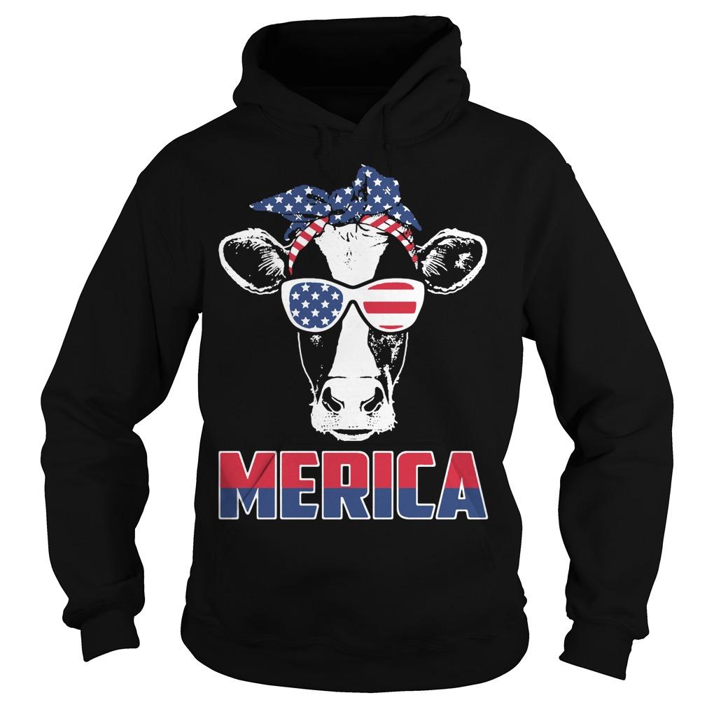 American Flag cow Hoodie