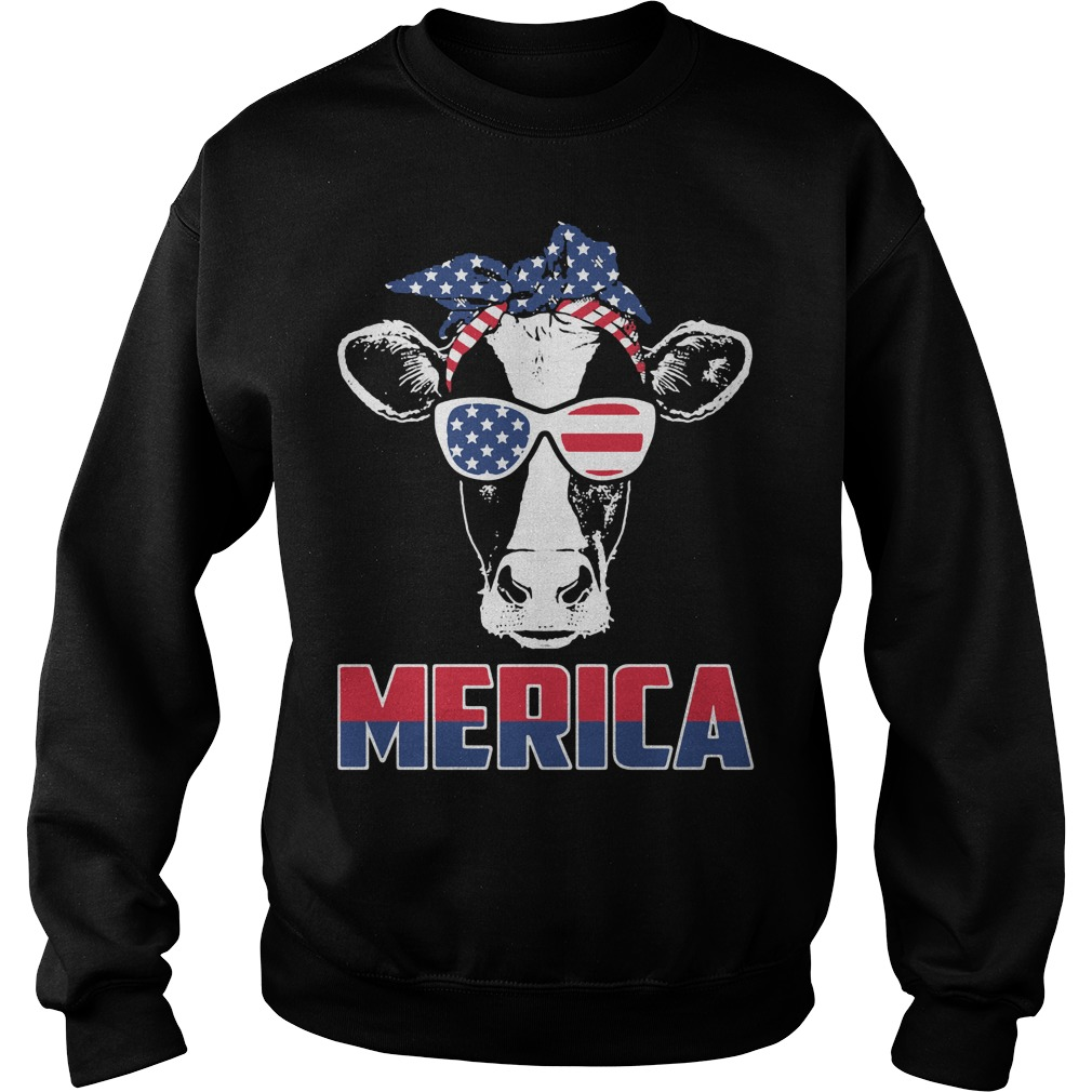 American Flag cow Sweater