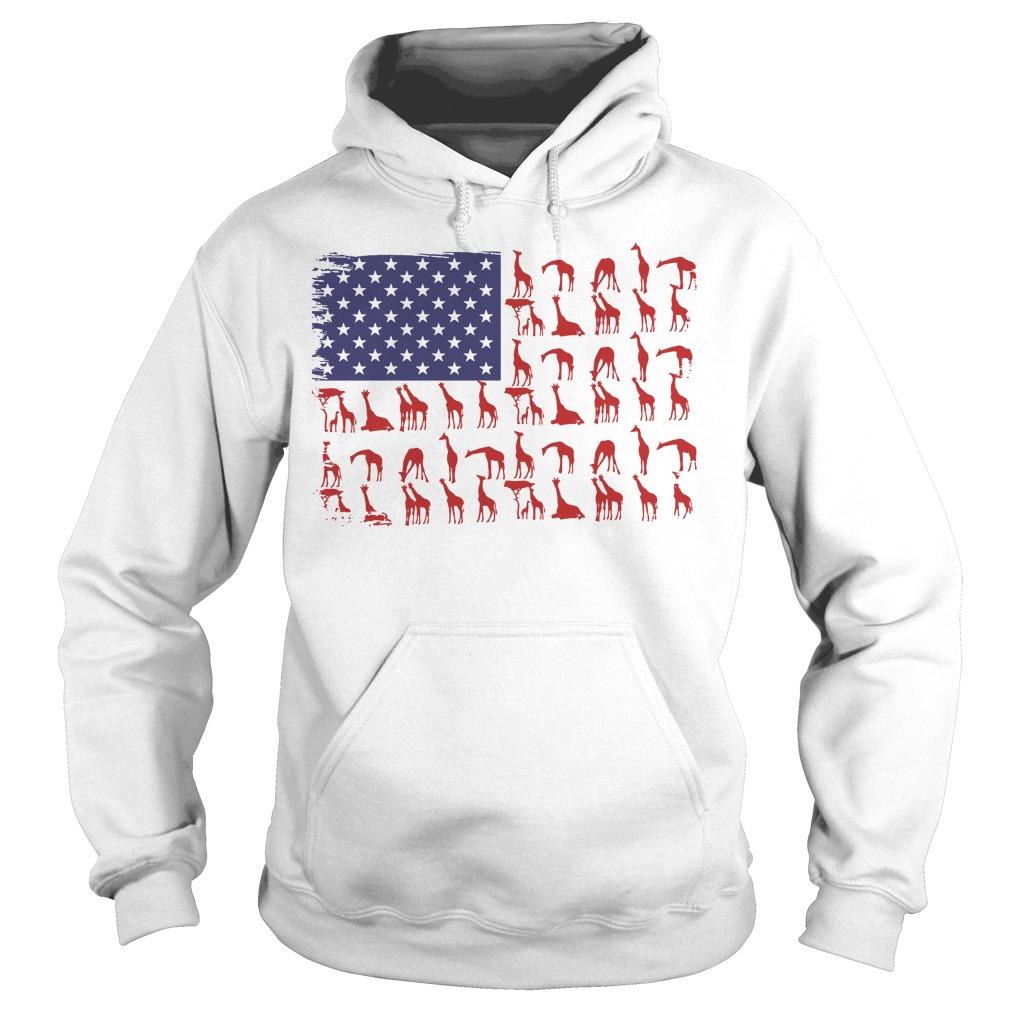 American Flag giraffe classic Hoodie