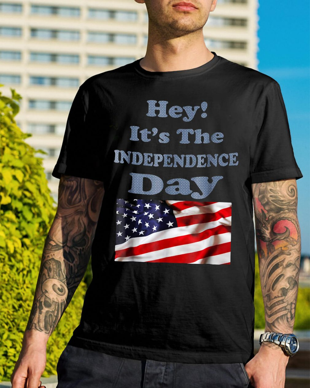 American Flag Hey it's the Independence day shirt