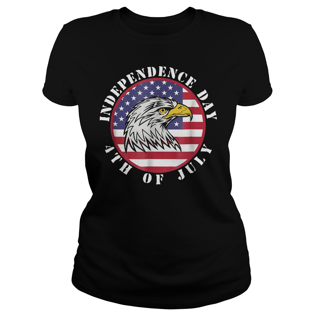American Flag Independence day 4th of July Ladies Tee