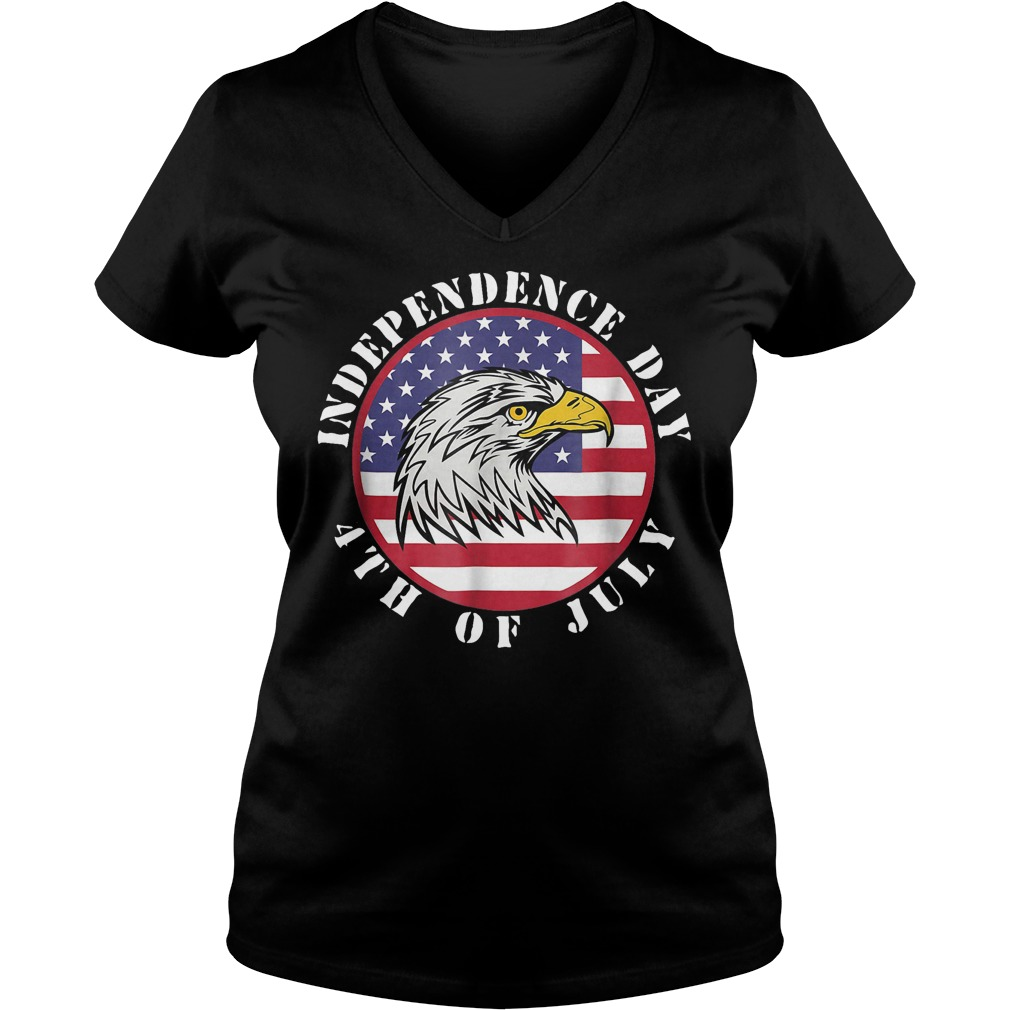 American Flag Independence day 4th of July V-neck T-shirt
