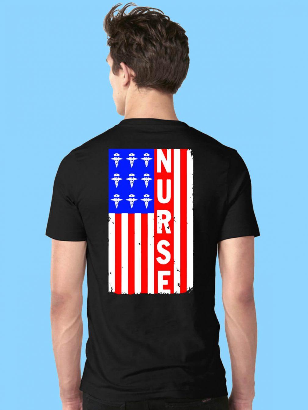 American Flag nures shirt