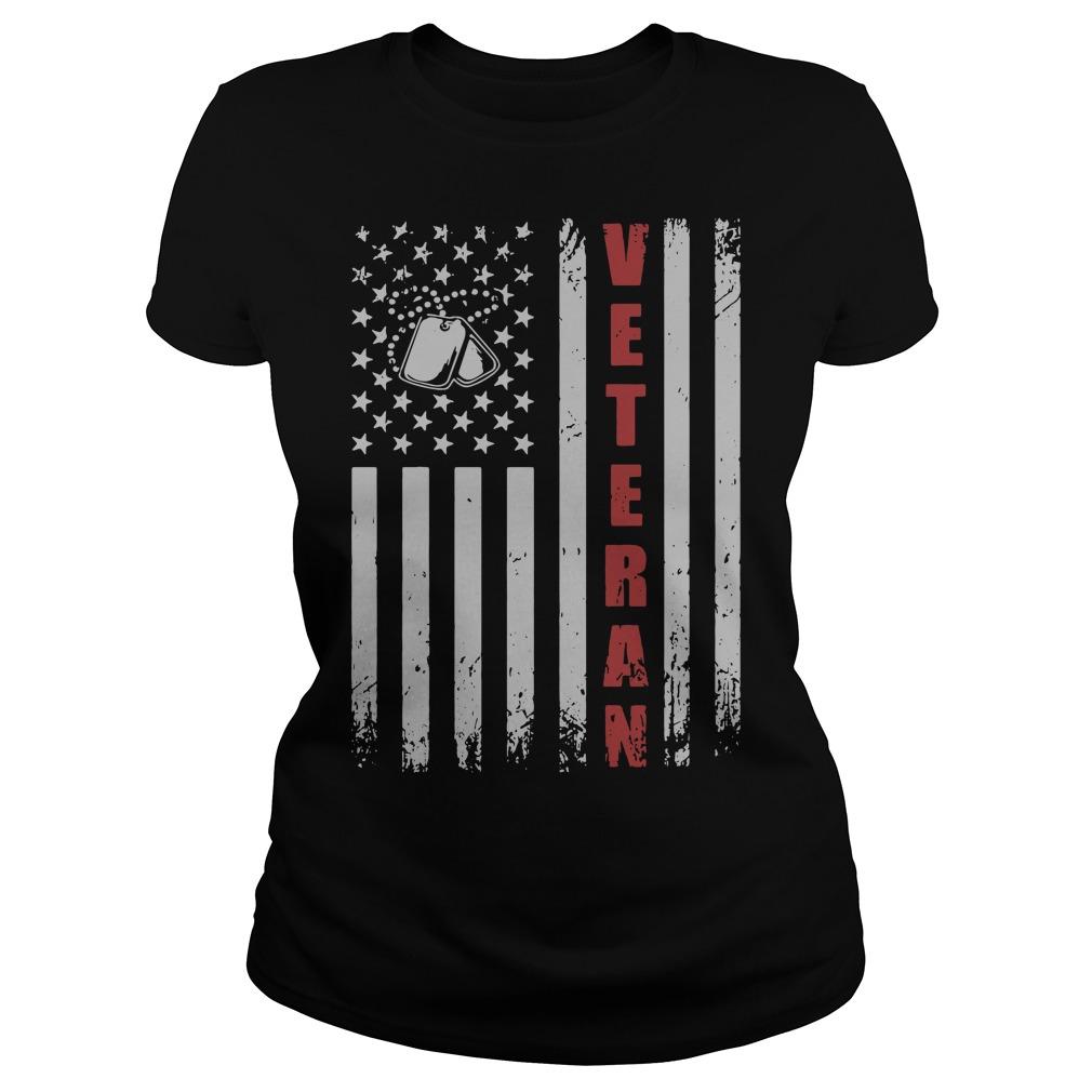 American Flag Veteran Ladies Tee
