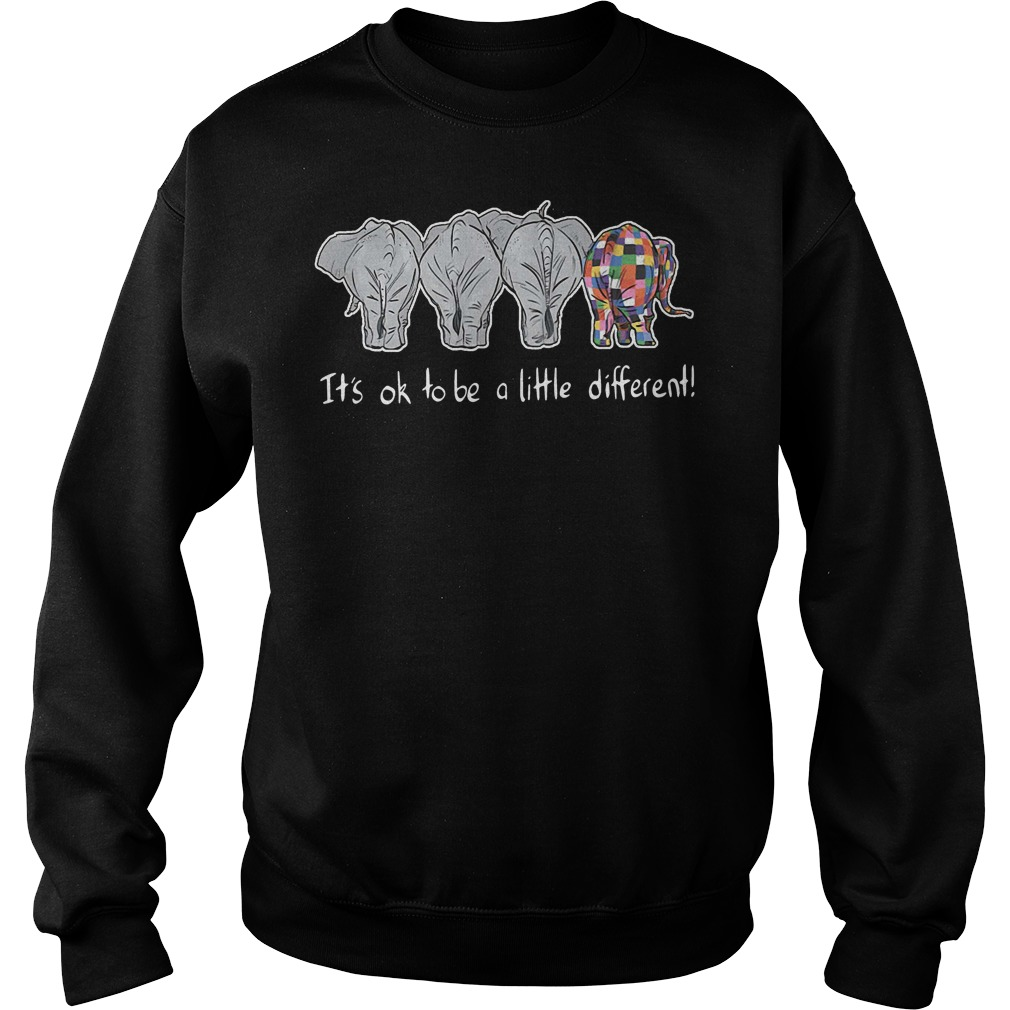 Autism elephant it's ok to be a little different Sweater