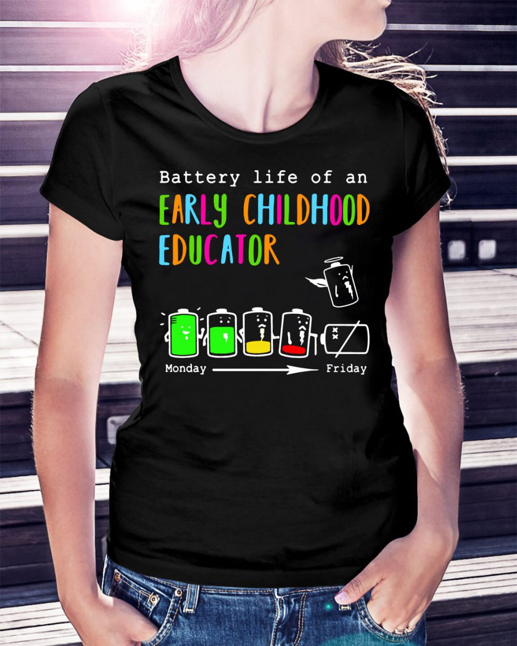 Battery life of an early childhood educator shirt