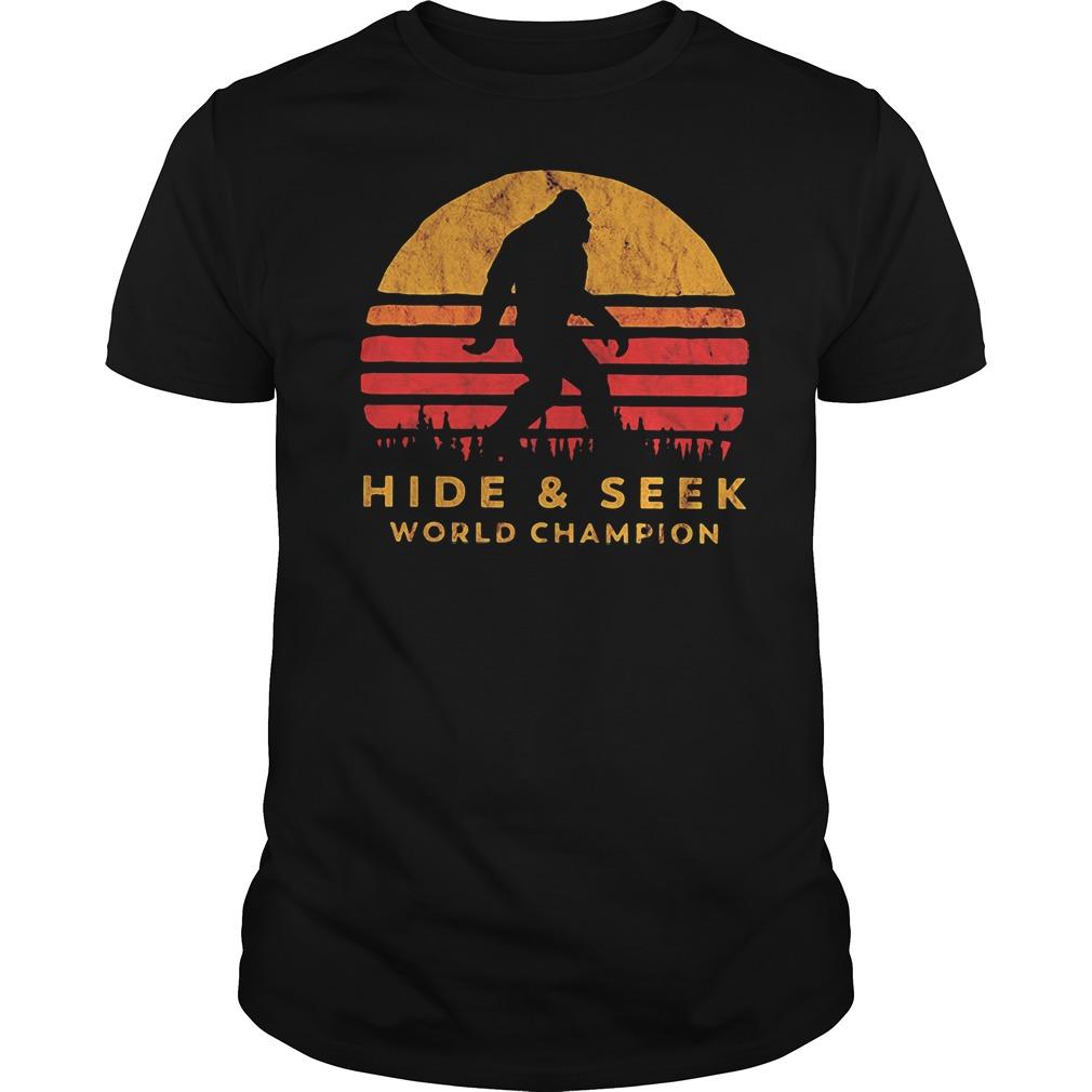 Bigfoot hide and seek world champion Guys Shirt