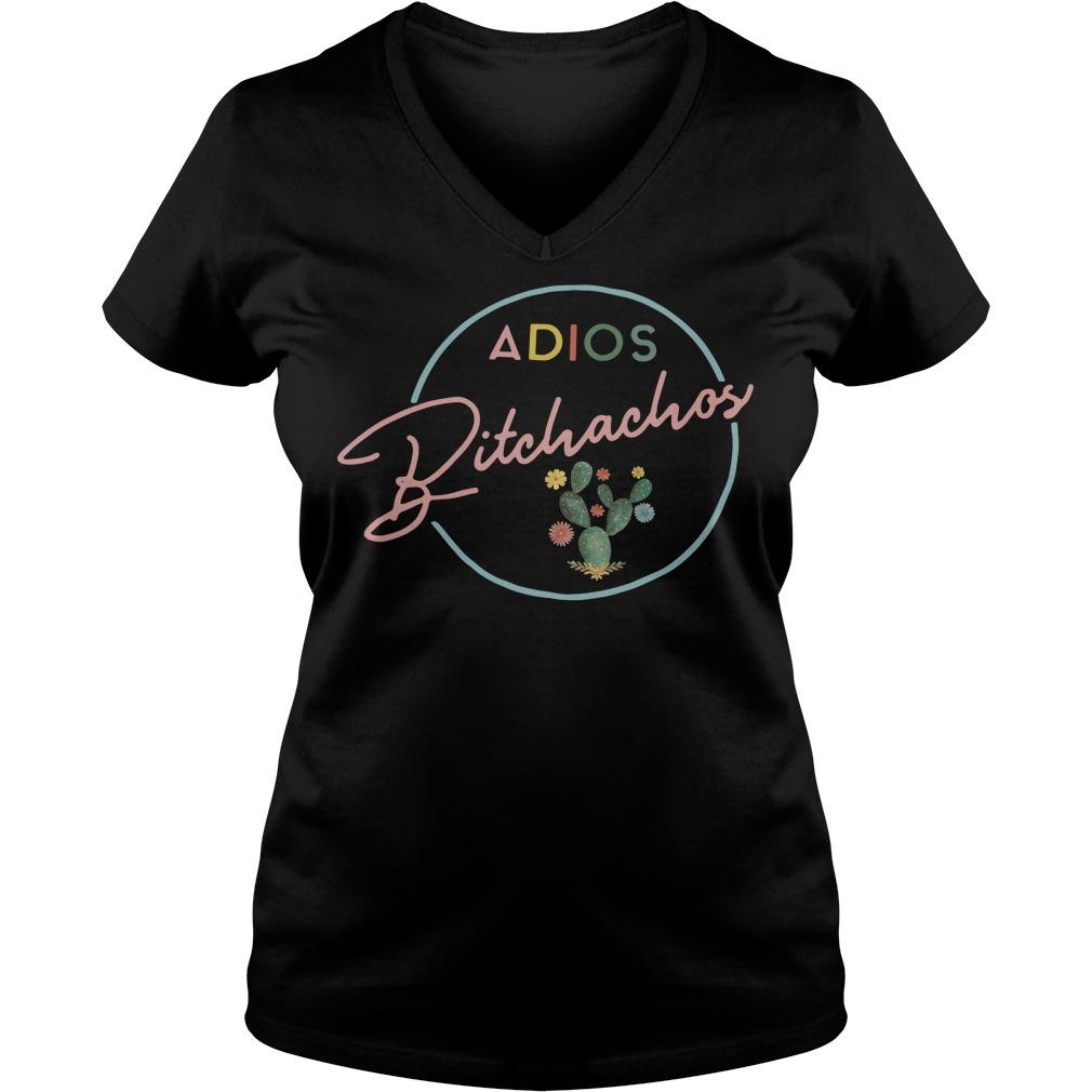 Cactus adios bitchachos V-neck T-shirt