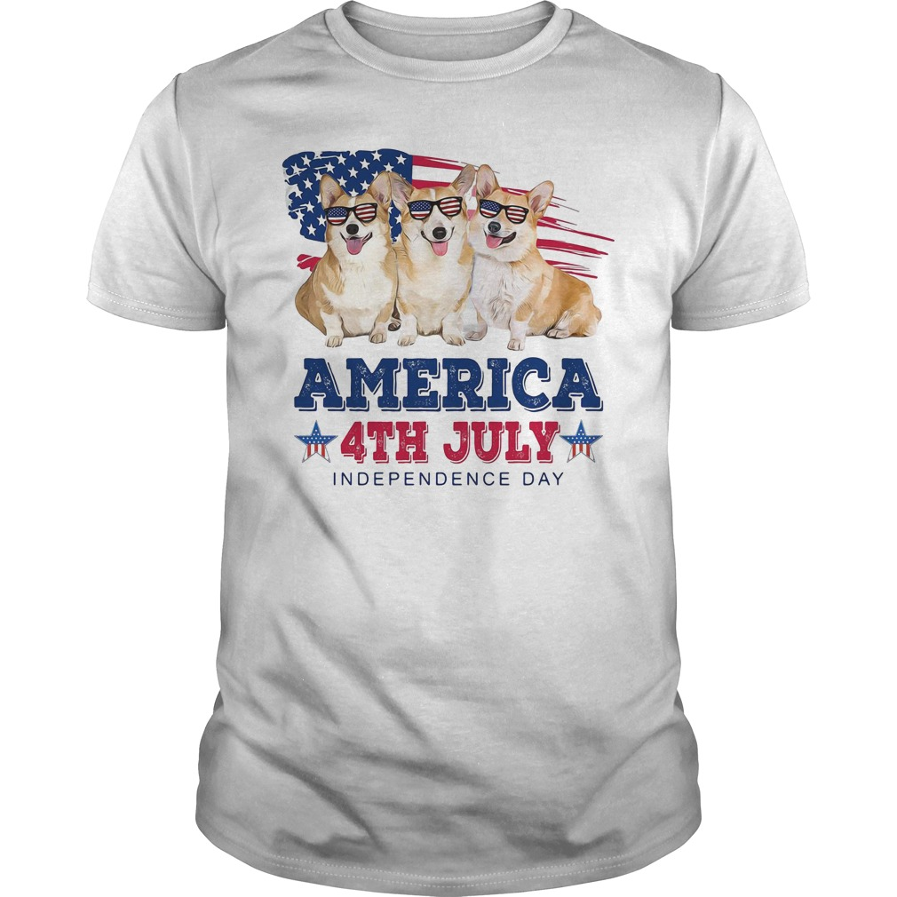 Corgi America 4th July independence day Guys Shirt