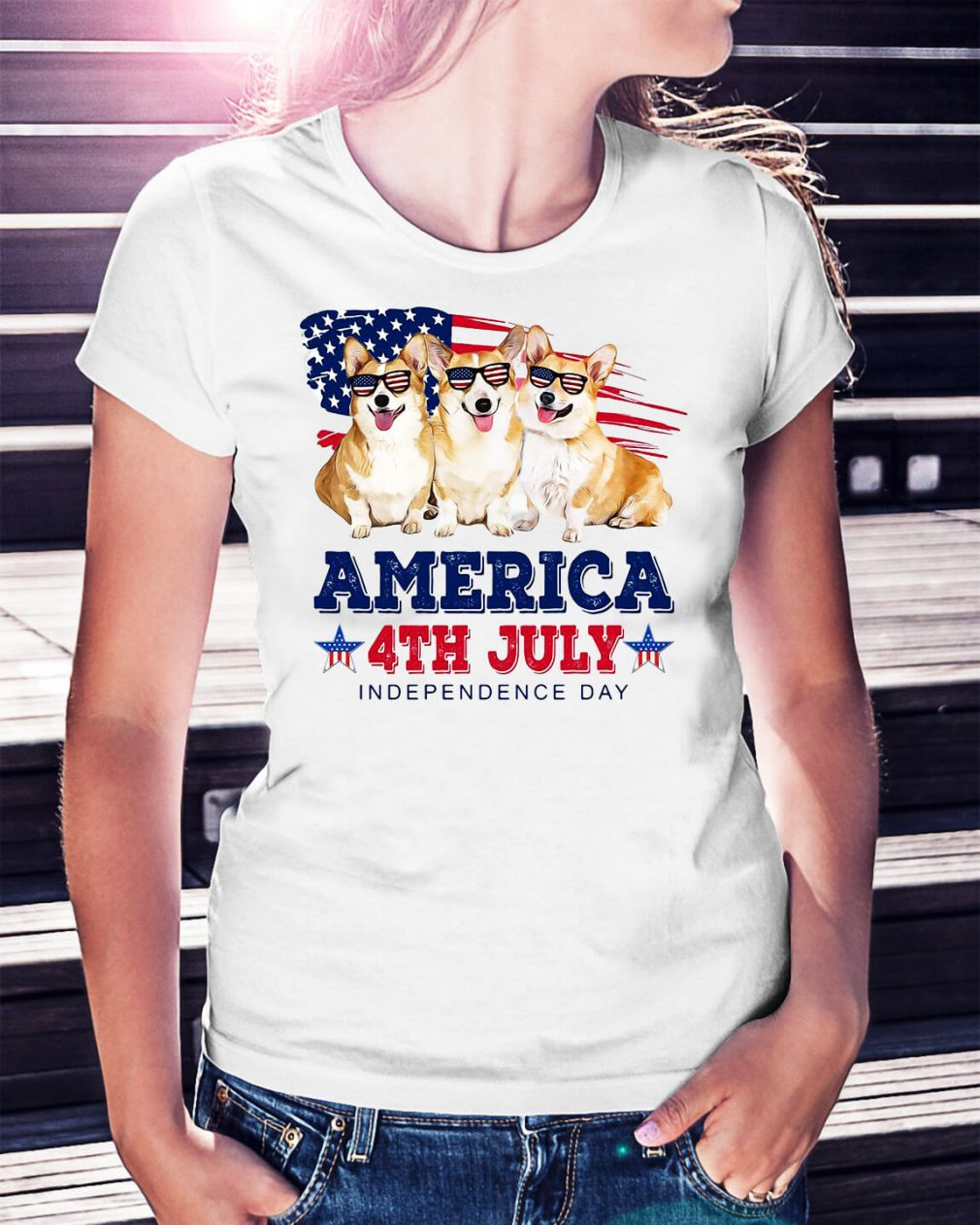 Corgi America 4th July independence day shirt