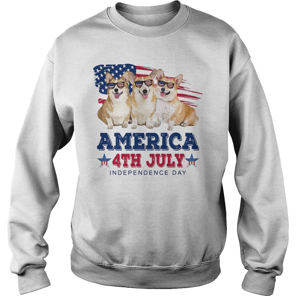 Corgi America 4th July independence day Sweater