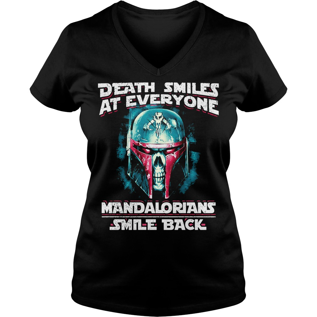 Death smiles at everyone Mandalorians smile back V-neck T-shirt