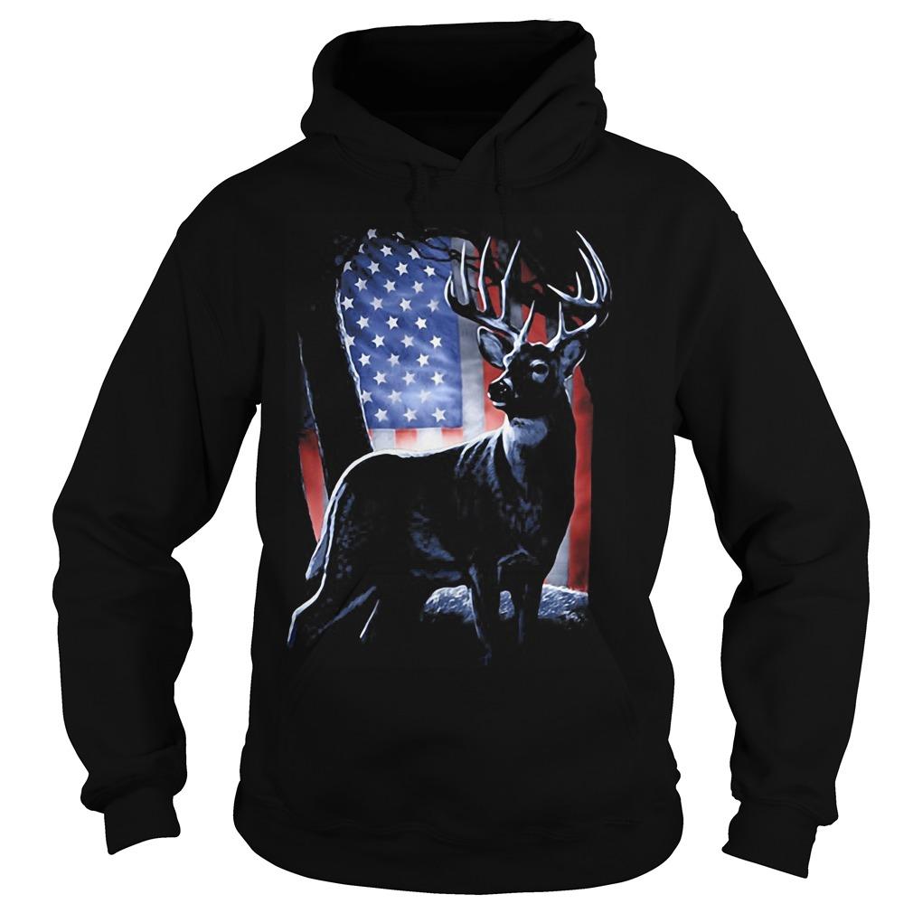 Deer American Flag Hoodie